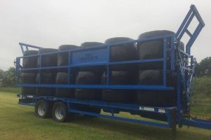 Birnie Bale Safe Trailers with sides turned - SIB Services