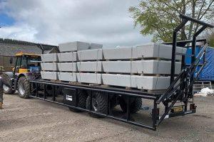 Dinapolis trailer hauling concrete blocks - SIB Services
