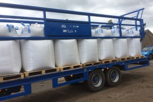 Trailers for agricultural bags